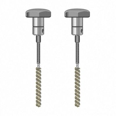 Coppia di elettrodi a spazzola isolati TS020/110
