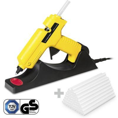 Pistola incollatrice a caldo PGGS 10-230V + 50 Stick di colla a caldo trasparente (Ø 11 mm)