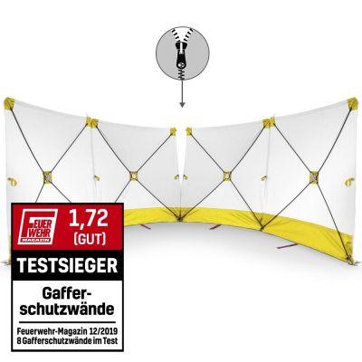 Parete fendivista VarioScreen 4*180*180 divisibile al centro, gialla