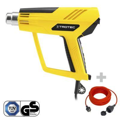 Pistola ad aria calda HyStream 2100 + Cavo di prolunga di alta qualità 15 m / 230 V / 1,5 mm²