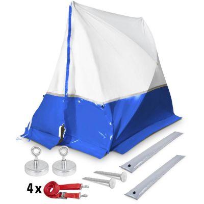 Tenda da lavoro 250 TE 250*200*190 a tetto spiovente - blu + Accessori
