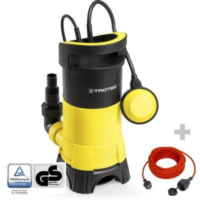 Pompa a immersione per acque scure TWP 11025 E + prolunga di alta qualità da 15 m / 230 V / 1,5 mm²